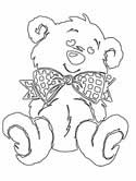 teddy bear with bow coloring pages