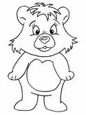 teddy bears coloring page