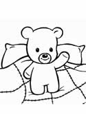 sleepy bear coloring page