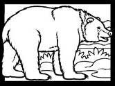 Denmark mammals - brown bear coloring page