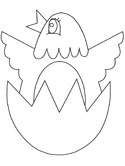 bird hatching from an egg coloring page