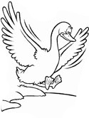 Duck Landing Coloring Page