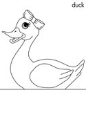 girl duck coloring page