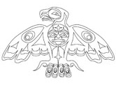 First Nations eagle coloring pages