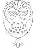 Inuit animals: owl coloring pages