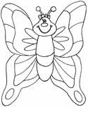 butterfly coloring page - Coloring Pages Butterfly Kids