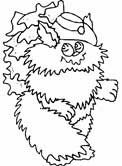 cat dressed up coloring page