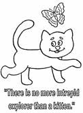 cats coloring book pages