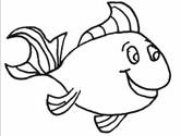 Inuit animals: fish coloring page