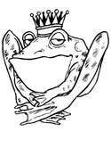 frog prince coloring book pages