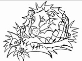 Aesop's fables:  the lion and the mouse coloring page