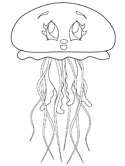 jellyfish coloring page