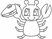 ocean animals - lobster coloring page