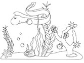 Ocean Animals Coloring Page