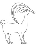 Native American goat art coloring pages
