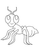 Ants Coloring Pages