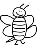 cartoon bee coloring page