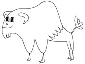 mammals of Poland: Wisent coloring page