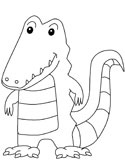 Reptiles of India: crocodile coloring pages