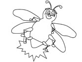 grasshoppers firefly coloring pages - Insect Coloring Pages