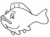 grumpy fish coloring page