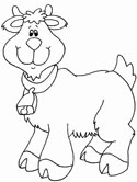 goat coloring book pages