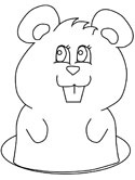 woodchuck colouring page