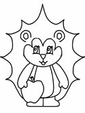 mammals of Russia - hedgehog coloring page