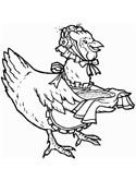 Chickens Hens and Roosters Coloring Pages