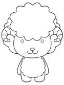 sheep or ram coloring page