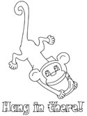 Mammals of India: monkey coloring pages