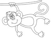 hanging monkey coloring pages - photo #14