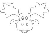 moose colouring page