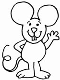 mouse coloring page - Coloring Picture Of A Mouse