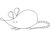 mouse or rat coloring page