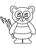 panda coloring pages