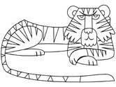 mammals of Russia - tiger coloring pages