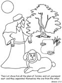 Abram and Lot Coloring Pages