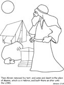 Abraham and Lot Bible Coloring Page - TheCatholicKid.com | 166x125