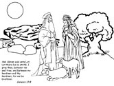 Bible Coloring Page Abram And Lot