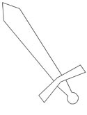 medieval sword coloring page
