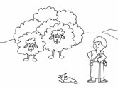 David the young shepherd coloring page