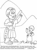 Bible coloring page - 1 Samuel 17:45