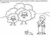 Bible coloring page - 1 Samuel 17:15
