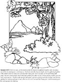 Bible coloring book pages - the story of creation