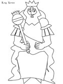 king coloring page
