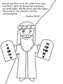 Moses and the Ten Commandments coloring page