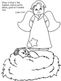 baby jesus coloring page - Coloring Pages Christmas Jesus