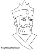 Fiery furnace coloring pages for Nebuchadnezzar coloring page