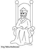 Shadrach, Meshach, and Abednego coloring page